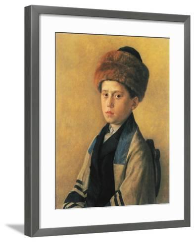 Portrait of a Young Boy-Isidor Kaufmann-Framed Art Print