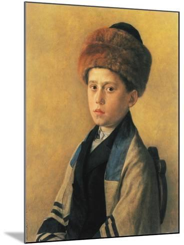 Portrait of a Young Boy-Isidor Kaufmann-Mounted Art Print
