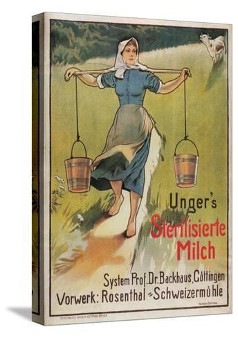 Unger's Sterilized Milk-Hermann Behrens-Stretched Canvas Print