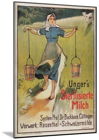 Unger's Sterilized Milk-Hermann Behrens-Mounted Art Print