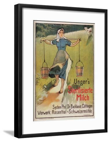 Unger's Sterilized Milk-Hermann Behrens-Framed Art Print