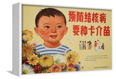 Happy Children Get Vaccinations for Tuberculosis--Framed Canvas Print