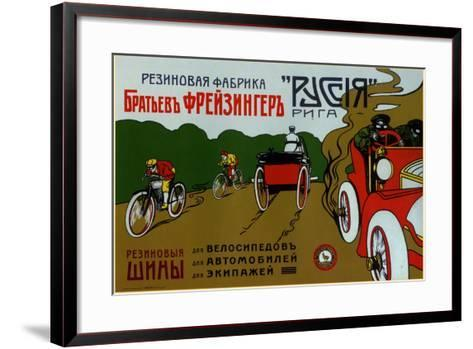 Freizinger Brothers Rubber Plant in Riga for Bicycle and Car Tires--Framed Art Print