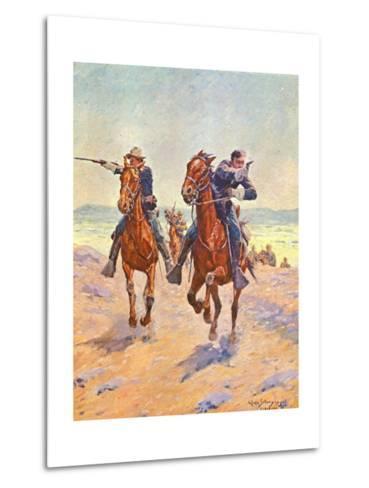Troopers in Pursuit-Charles Shreyvogel-Metal Print