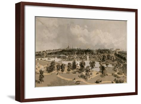 Public Garden and Boston Common- Buford-Framed Art Print