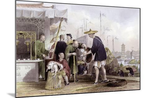 Cat Tea Merchants-Thomas Allom-Mounted Art Print
