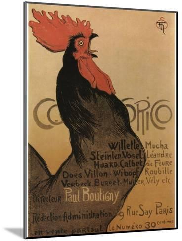 Coccorico-Theophile Alexandre Steinlen-Mounted Art Print