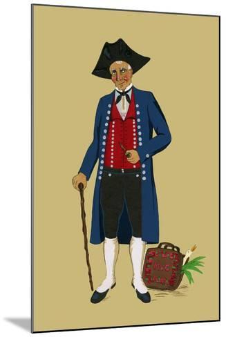 Alsacian Man from Saverne with Pipe, Tri-Cornered Hat and Wears Britches-Elizabeth Whitney Moffat-Mounted Art Print