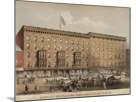 American House Hotel - Hanover Street-Lewis Rice-Mounted Art Print