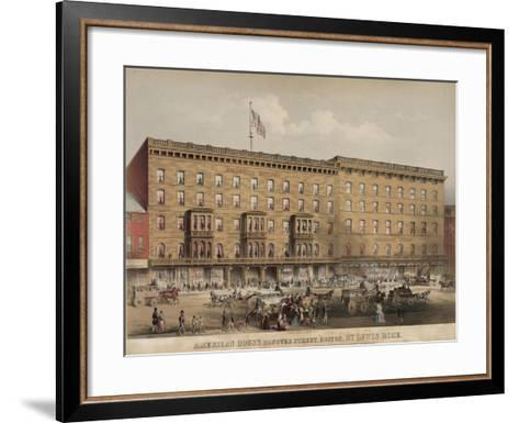 American House Hotel - Hanover Street-Lewis Rice-Framed Art Print