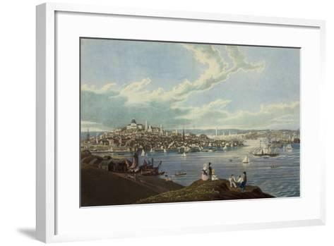 View of the City of Boston from Dorchester Heights-Robert Havell-Framed Art Print
