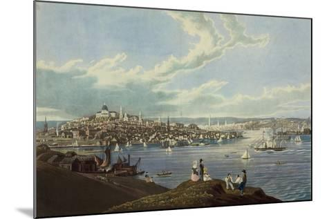 View of the City of Boston from Dorchester Heights-Robert Havell-Mounted Art Print