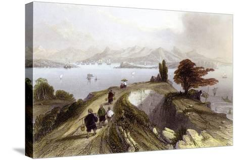 Hong Kong Harbour-Thomas Allom-Stretched Canvas Print