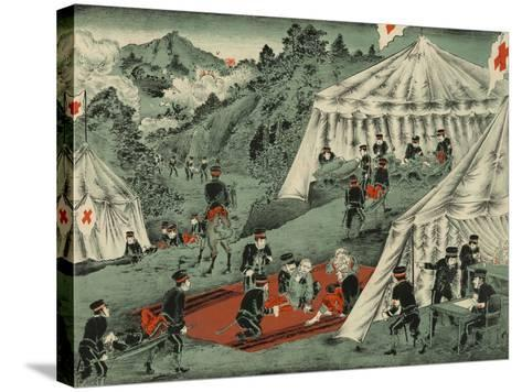 Japanese Red Cross Cares for the Wounded--Stretched Canvas Print