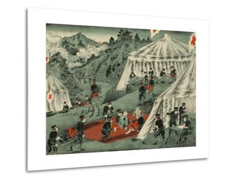 Japanese Red Cross Cares for the Wounded--Metal Print