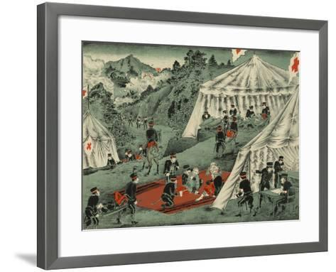 Japanese Red Cross Cares for the Wounded--Framed Art Print