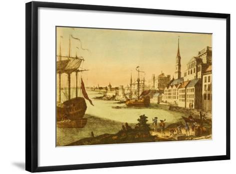 The Port of Boston--Framed Art Print