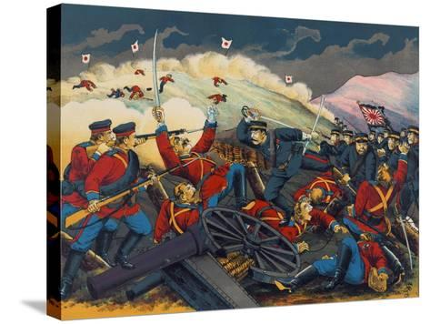 Japanese Soldier Overrun Russians at Fen-Shui Ling--Stretched Canvas Print