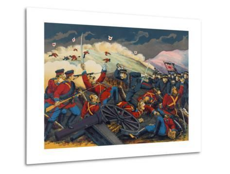 Japanese Soldier Overrun Russians at Fen-Shui Ling--Metal Print