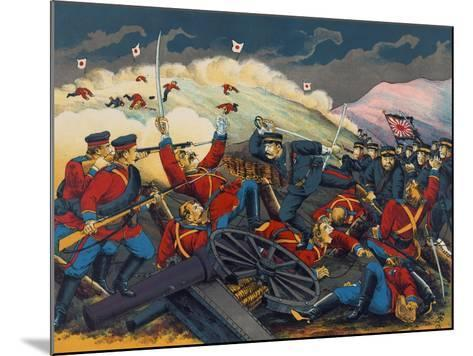 Japanese Soldier Overrun Russians at Fen-Shui Ling--Mounted Art Print