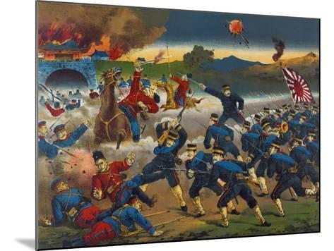 Japanese Soldiers Overrun Russians at Chin-Chou--Mounted Art Print