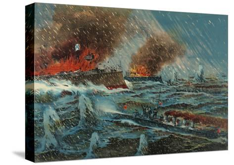 Japanese Torpedo Russian Ships--Stretched Canvas Print