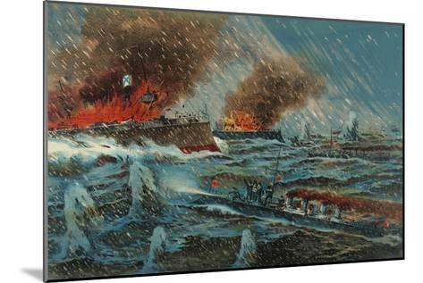 Japanese Torpedo Russian Ships--Mounted Art Print