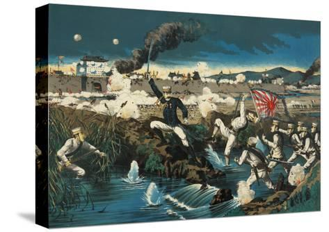 Japanese Attack Boxers at Wall City Tianjin--Stretched Canvas Print