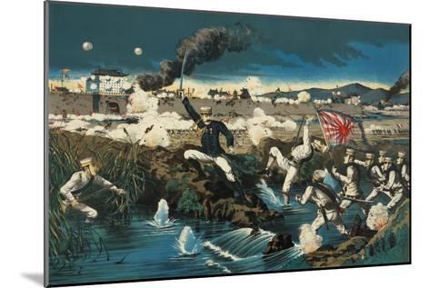 Japanese Attack Boxers at Wall City Tianjin--Mounted Art Print
