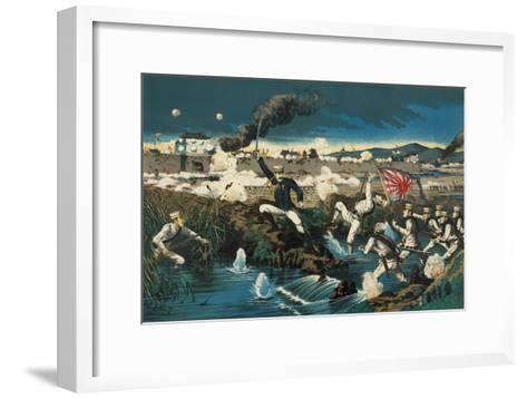 Japanese Attack Boxers at Wall City Tianjin--Framed Art Print