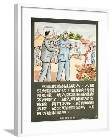 A Communist Party Member Encourages a Man to Get an X-Ray--Framed Art Print