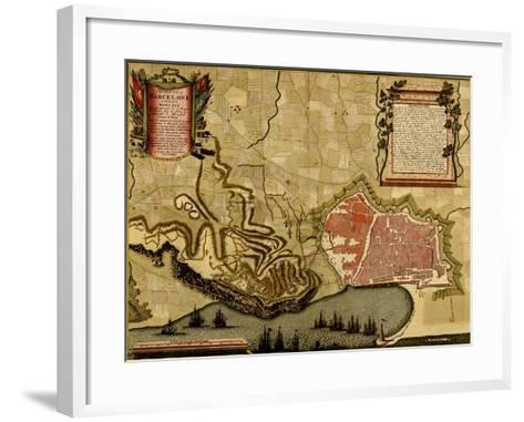 City Plan Paris - 1700-Anna Beeck-Framed Art Print