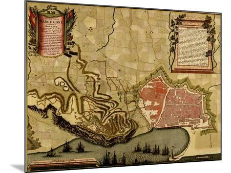 City Plan Paris - 1700-Anna Beeck-Mounted Art Print