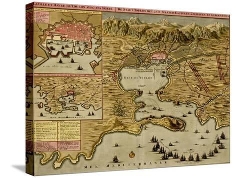 Straits of Cadiz - Gibraltar - 1700-Anna Beeck-Stretched Canvas Print