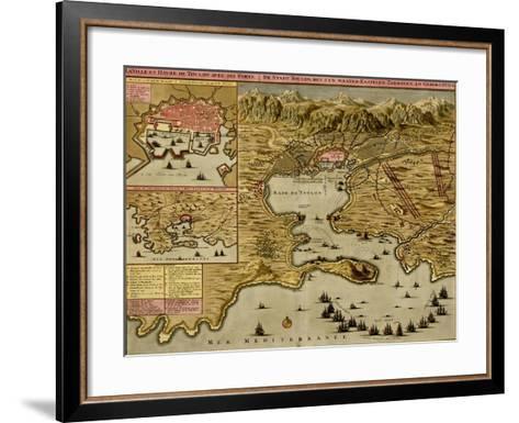 Straits of Cadiz - Gibraltar - 1700-Anna Beeck-Framed Art Print