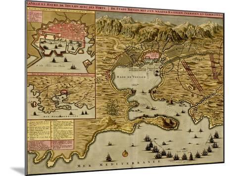 Straits of Cadiz - Gibraltar - 1700-Anna Beeck-Mounted Art Print