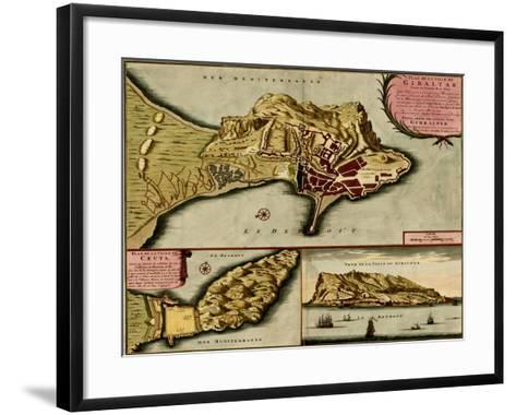 Fortifications at Nice, France - 1700-Anna Beeck-Framed Art Print