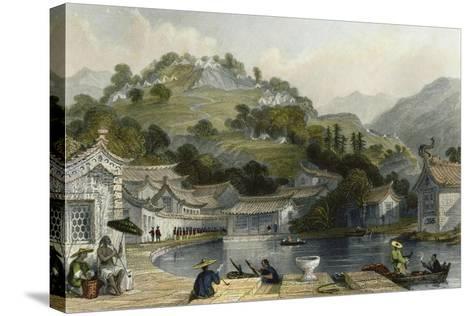 British Encampment Irgao Shan-Thomas Allom-Stretched Canvas Print