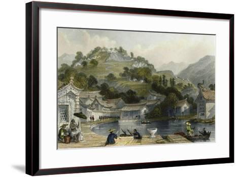 British Encampment Irgao Shan-Thomas Allom-Framed Art Print