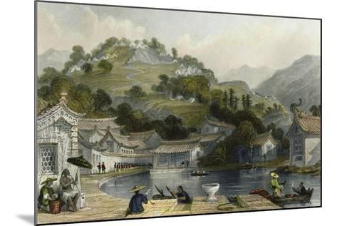 British Encampment Irgao Shan-Thomas Allom-Mounted Art Print