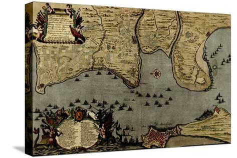 Toulon, France Harbor and Defenses - 1700-Anna Beeck-Stretched Canvas Print