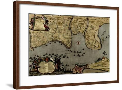 Toulon, France Harbor and Defenses - 1700-Anna Beeck-Framed Art Print