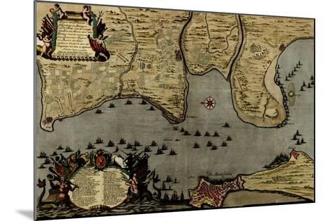 Toulon, France Harbor and Defenses - 1700-Anna Beeck-Mounted Art Print