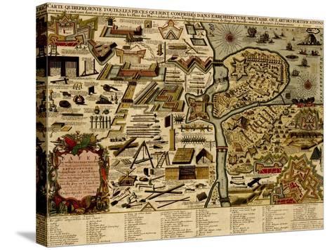 Vauban Defenses on the Narva, Estonia - 1700-Anna Beeck-Stretched Canvas Print