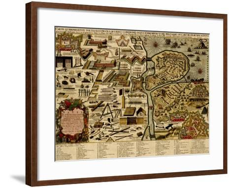 Vauban Defenses on the Narva, Estonia - 1700-Anna Beeck-Framed Art Print