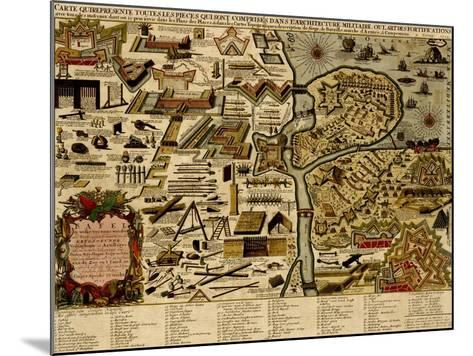 Vauban Defenses on the Narva, Estonia - 1700-Anna Beeck-Mounted Art Print