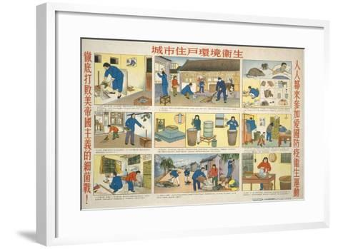 Cleanliness Prevents Malaria--Framed Art Print