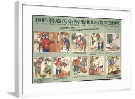 Housekeeping and Eliminating Flies--Framed Art Print