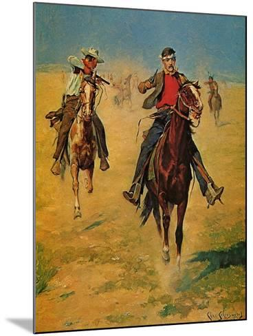 Pursuit or the Attack-Charles Shreyvogel-Mounted Art Print