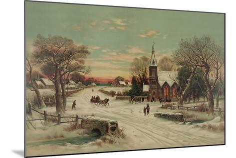 Going to Church, Christmas Eve- J. Hoover & Son-Mounted Art Print